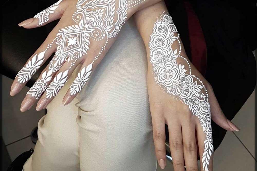 مدل حنای دست عروس