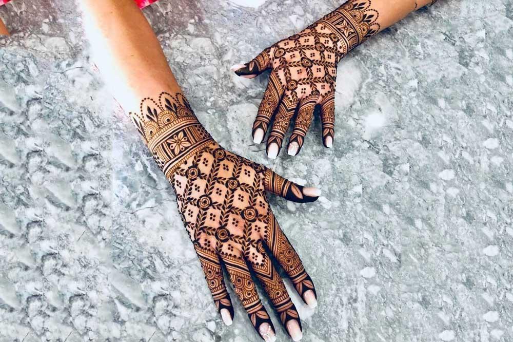 مدل حنای دست هندی