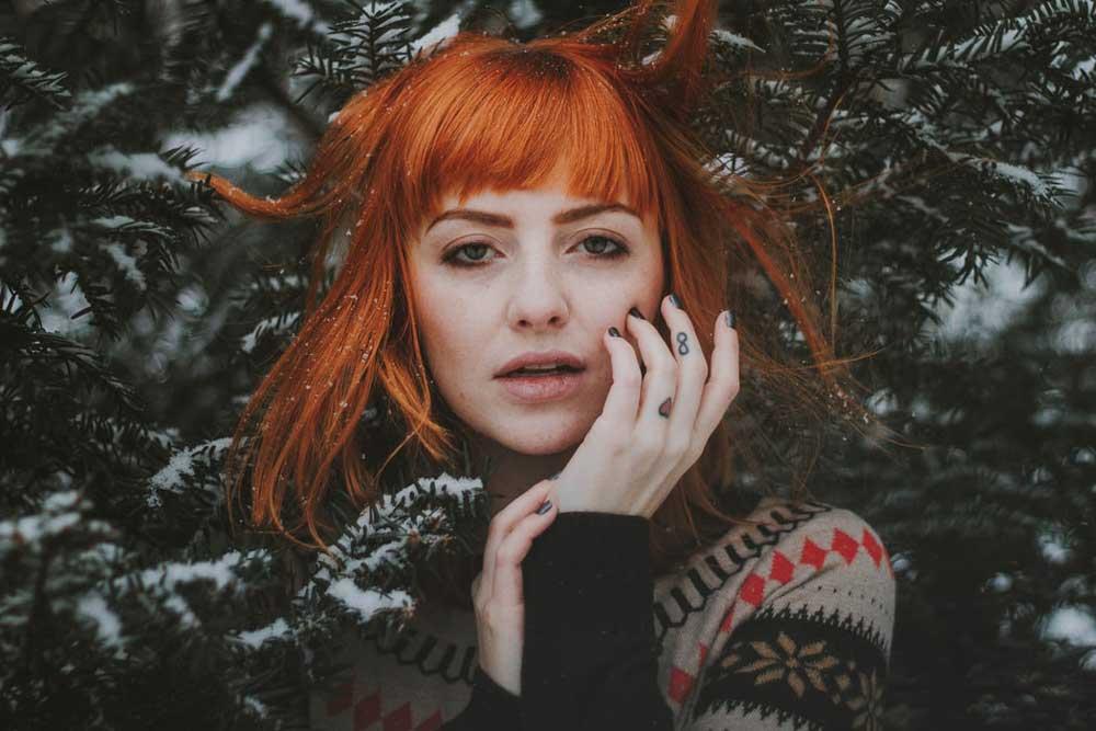 رنگ ابرو برای موهای قرمز